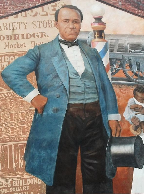 William C. Goodridge, Entrepreneur Mural Portrait Detail image. Click for full size.