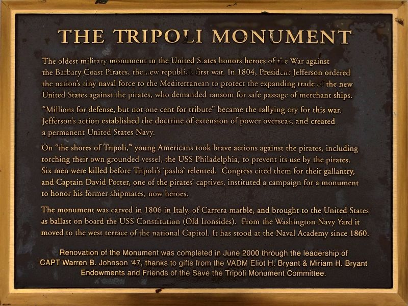 The Tripoli Monument Marker image. Click for full size.