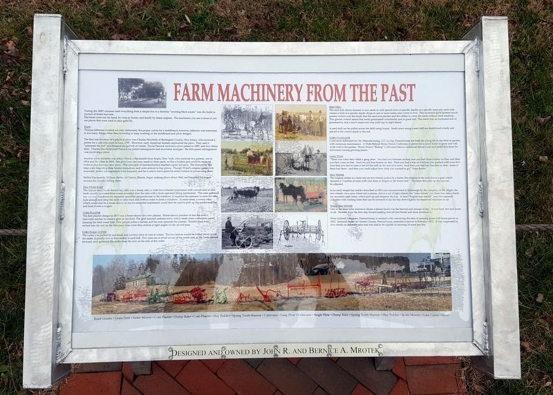 Farm Machinery From The Past Marker image. Click for full size.