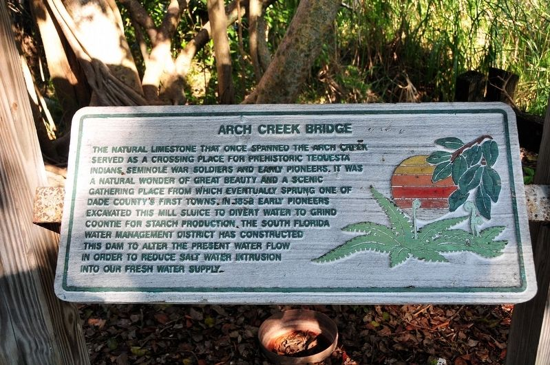 Arch Creek Bridge Marker image. Click for full size.