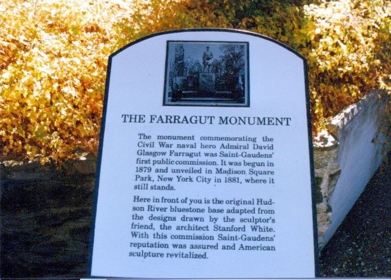 The Farragut Monument Marker image. Click for full size.