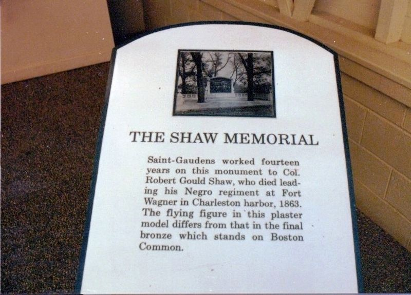 The Shaw Memorial image. Click for full size.
