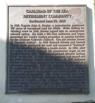 Carlsbad by the Sea Retirement Community Marker image. Click for full size.