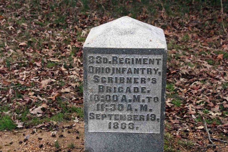 33rd Ohio Infantry Regiment Marker image. Click for full size.