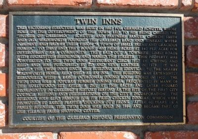 Twin Inns Marker image. Click for full size.