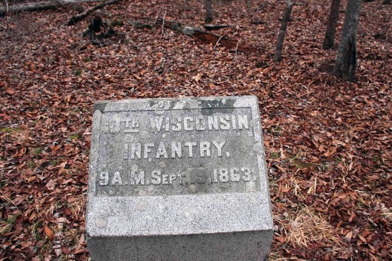 10th Wisconsin Infantry Regiment Marker image. Click for full size.