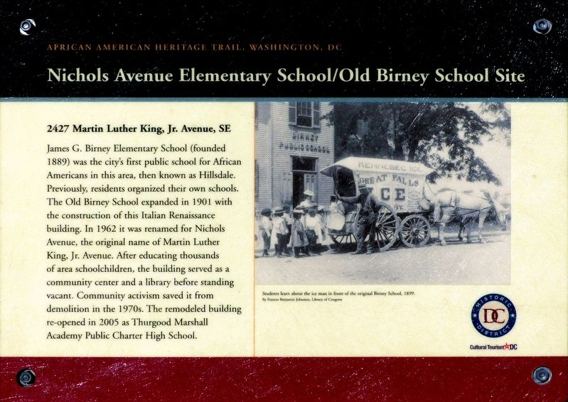 Nichols Avenue Elementary School/Old Birney School Site Marker image. Click for full size.