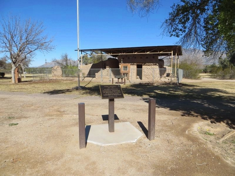 Fort Lowell Marker image. Click for full size.