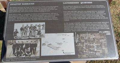 Infantry Barracks / Laundresses' Quarters Marker image. Click for full size.