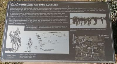 Cavalry Barracks and Band Barracks Marker image. Click for full size.