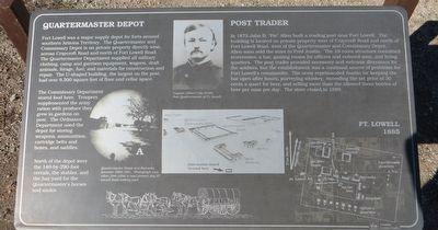 Quartermaster Depot and Post Trader Marker image. Click for full size.