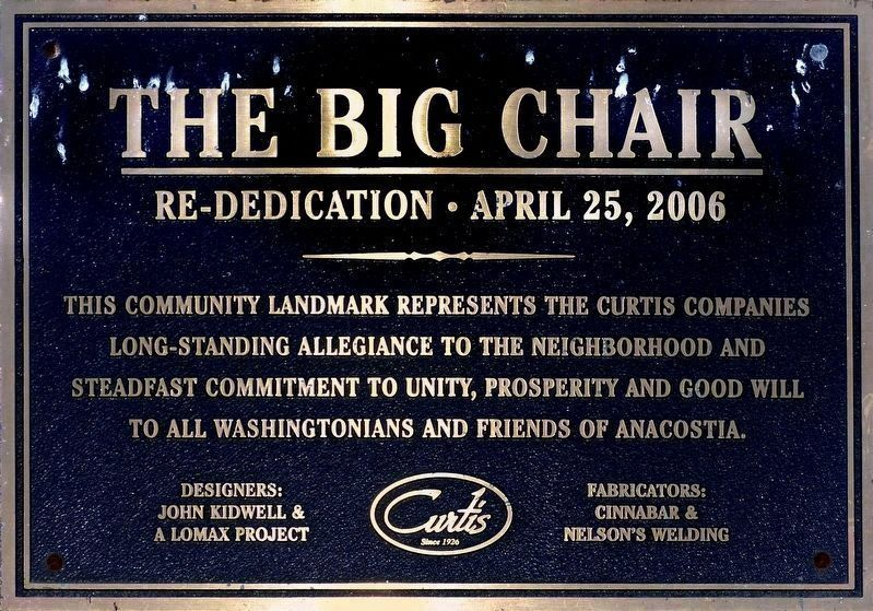 2006 Plaque<br>(Metal Chair) image. Click for full size.