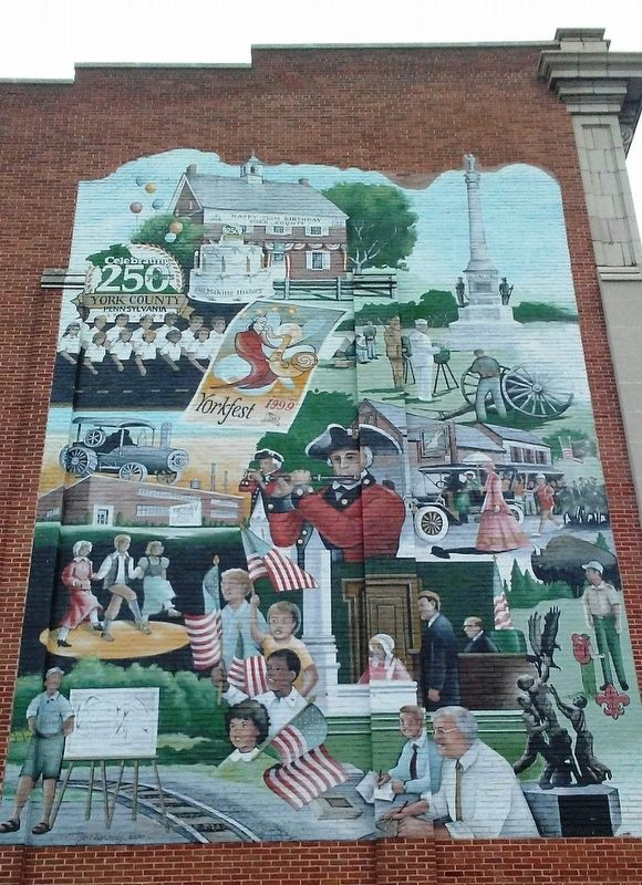 York County's 250th Anniversary Mural image. Click for full size.