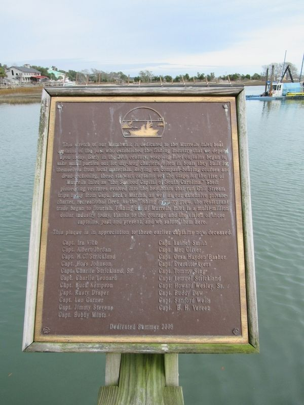 Murrells Inlet Boat Captains Marker image. Click for full size.