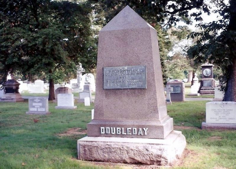 Abner Doubleday grave marker image. Click for full size.