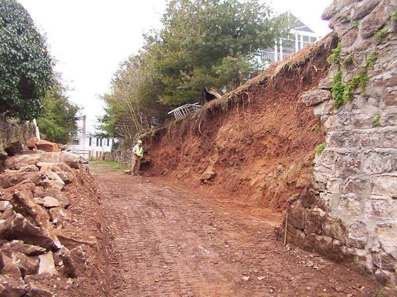Photo of Rocky Lane during the restoration project in 2006 image. Click for more information.