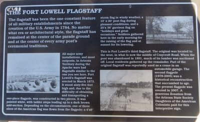 The Fort Lowell Flagstaff Marker image. Click for full size.