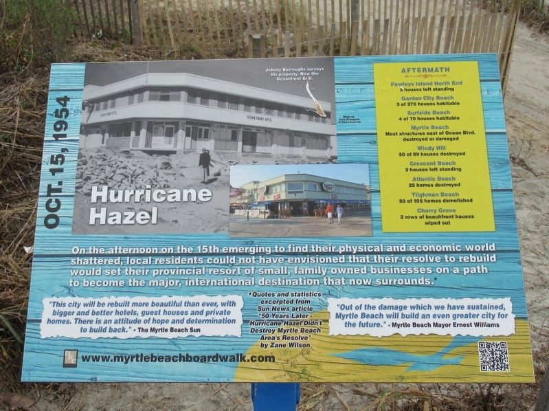 Hurricane Hazel Marker image. Click for full size.