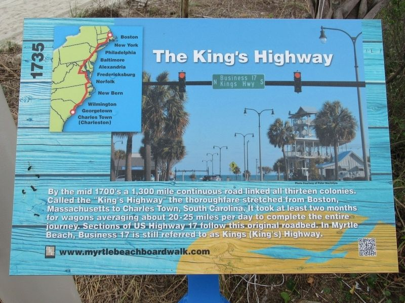 The King's Highway Marker image. Click for full size.