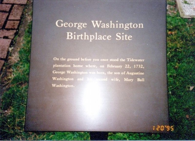 George Washington Birthplace Site Marker image. Click for full size.