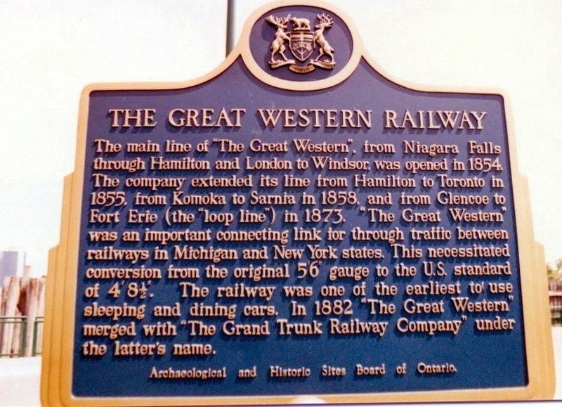 The Great Western Railway Marker image. Click for full size.