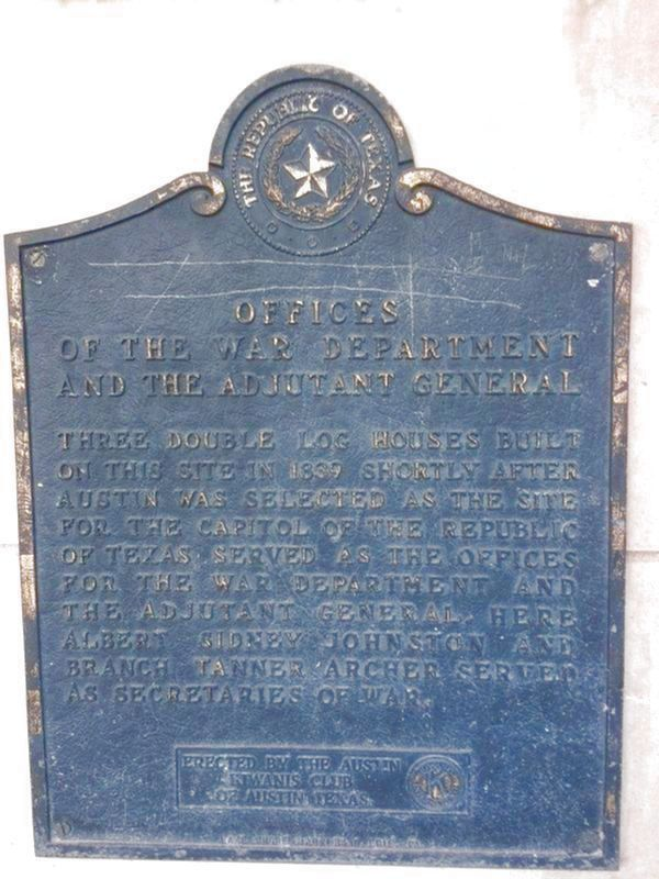 Offices Of The War Department And The Adjutant General Marker image. Click for full size.
