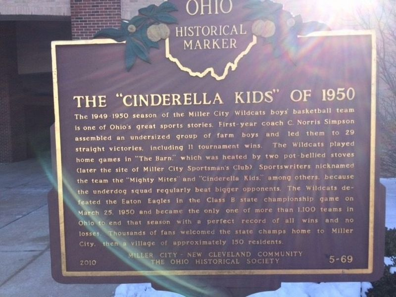 "The ""Cinderella Kids"" of 1950 Marker image. Click for full size."