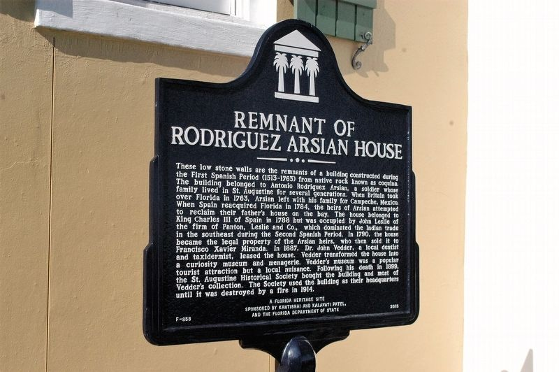 Remnants of Rodriguez-Arsian House Marker image. Click for full size.