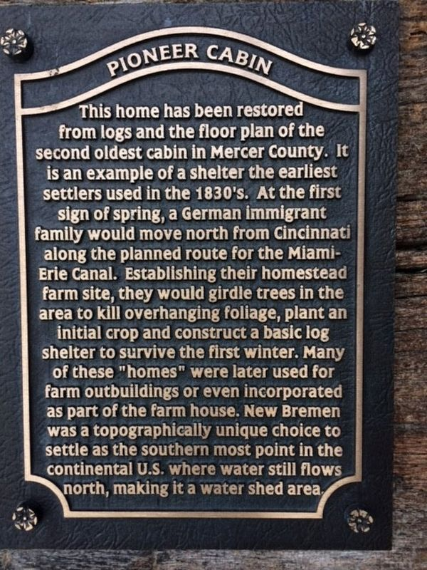 Pioneer Cabin Marker image. Click for full size.