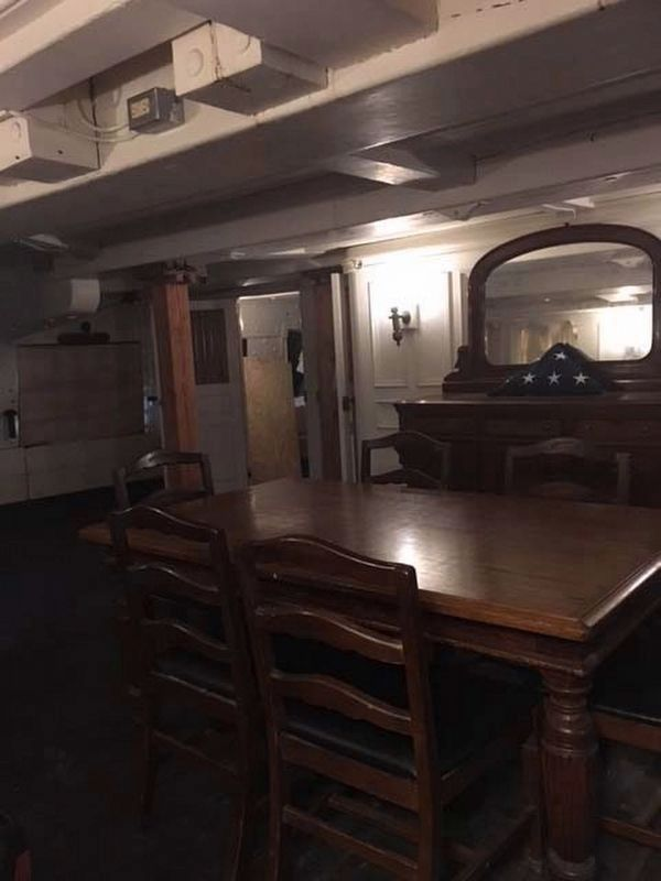 USS Constitution Officers Room image. Click for full size.