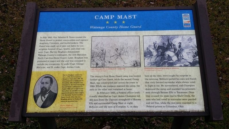 Camp Mast Marker image. Click for full size.