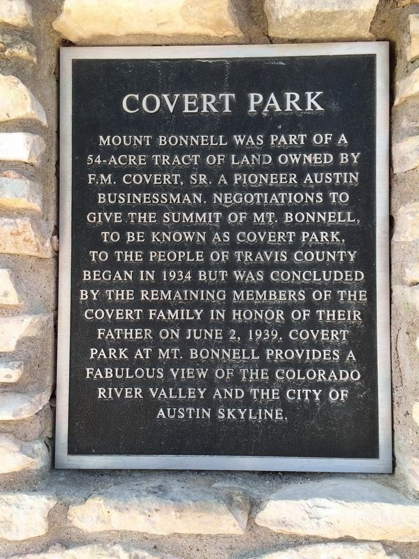 Texas Historical Society Covert Park Marker image. Click for full size.