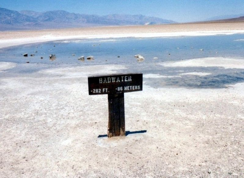 Badwater-282 feet below sea level image. Click for full size.