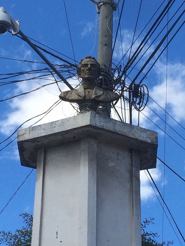 General Miguel Garcia Granados bust on top of pedestal image. Click for full size.