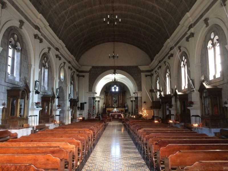 Interior of the Catholic Church of Nahualá image. Click for full size.