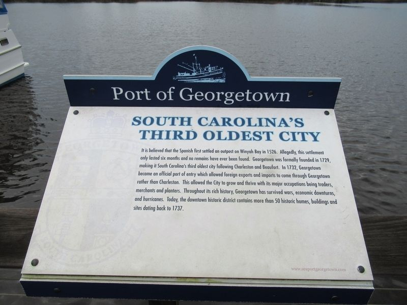 South Carolina's Third Oldest City Marker image. Click for full size.