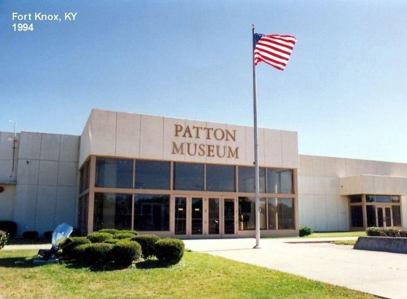 Patton Museum image. Click for full size.