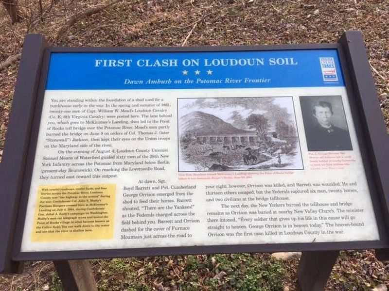 First Clash On Loudoun Soil Marker image. Click for full size.