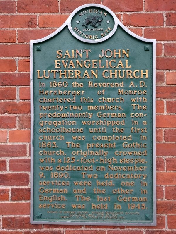 Saint John Evangelical Lutheran Church Marker image. Click for full size.