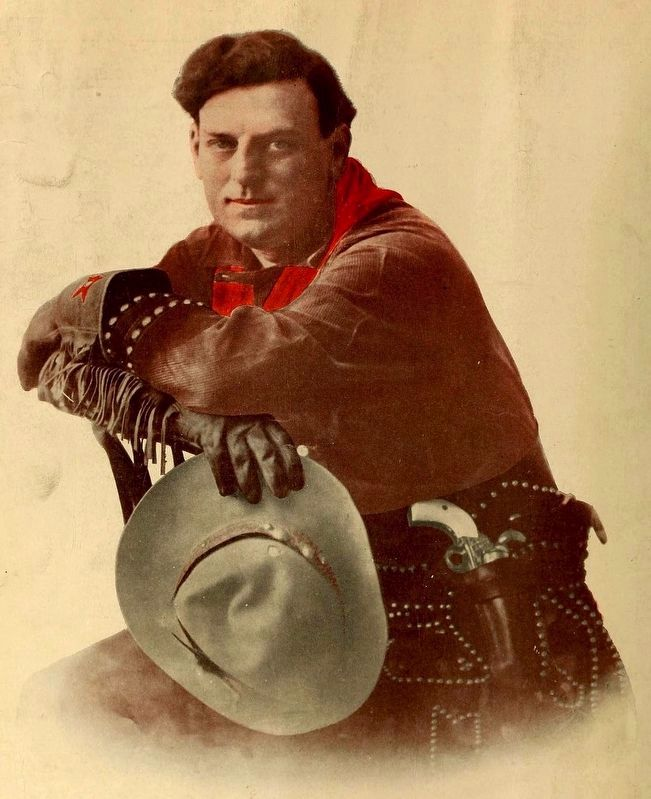 "Portrait of Maxwell Henry Aronson (aka Gilbert M. ""Broncho Billy"" Anderson). image. Click for full size."