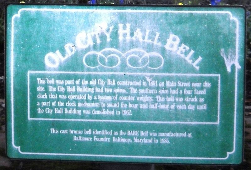 Old City Hall Bell Marker image. Click for full size.