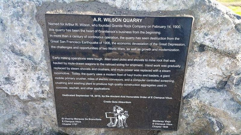A. R. Wilson Quarry Marker image. Click for full size.