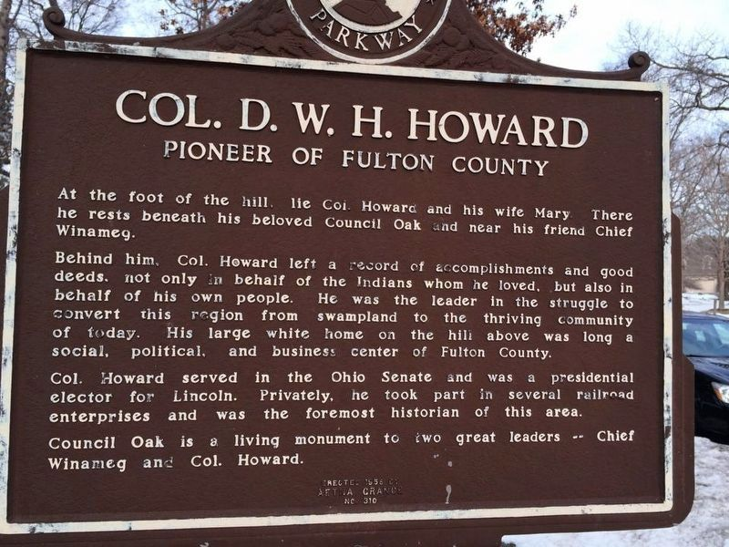 Col. D.W.H. Howard Marker image. Click for full size.