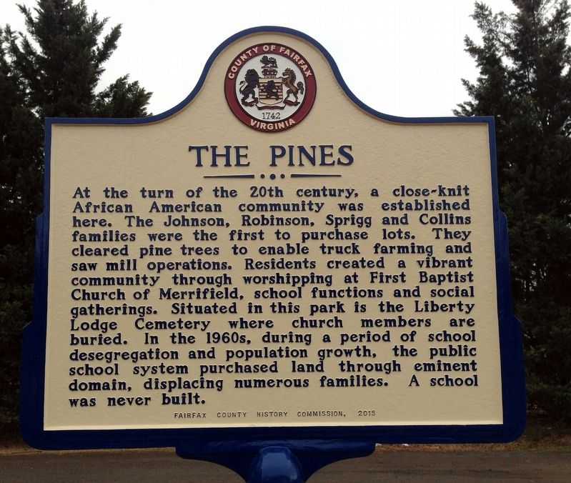 The Pines Marker image. Click for full size.