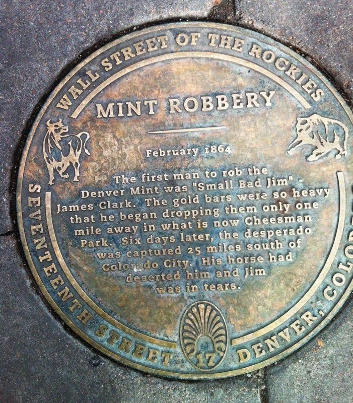 Mint Robbery Marker image. Click for full size.