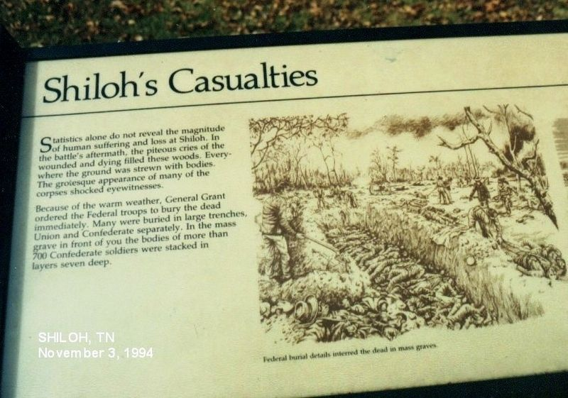 Shiloh's Casualties Marker image. Click for full size.