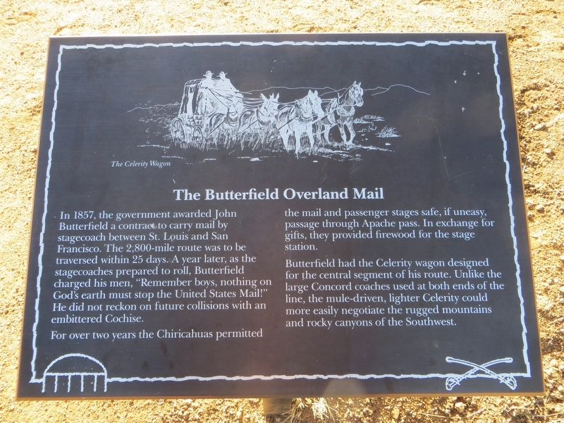 The Butterfield Overland Mail Marker image. Click for full size.