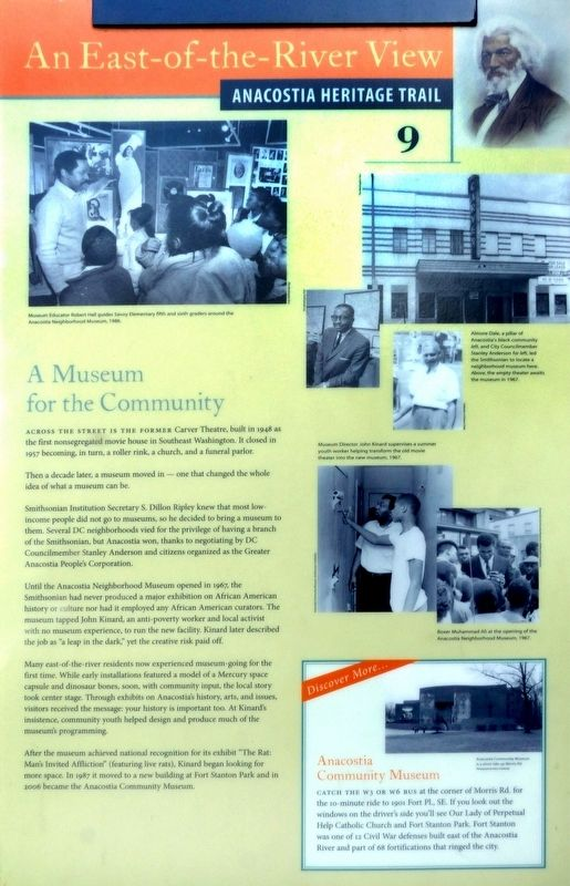 A Museum for the Community Marker image. Click for full size.