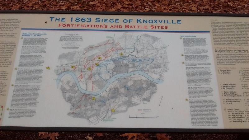 The 1863 Siege of Knoxville Marker image. Click for full size.