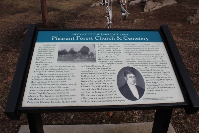 Pleasant Forest Church & Cemetery Marker image. Click for full size.